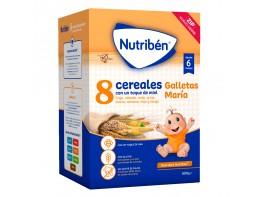 Nutriben 8 cereales con un toque de miel galletas María 600g
